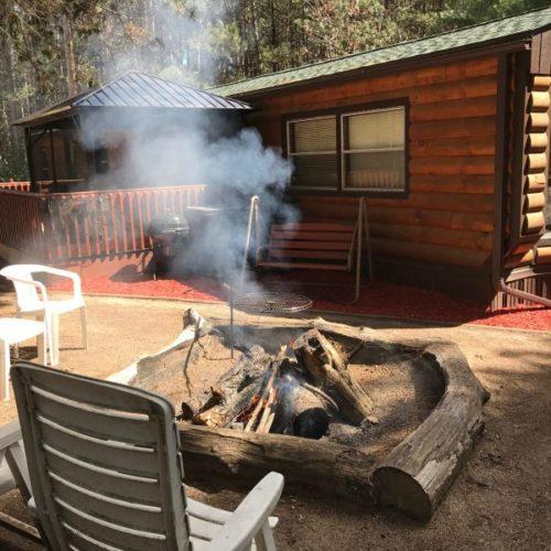Lilikoi Resort has a firepit.