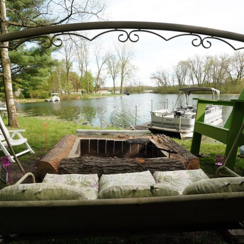 View of the fire pit.