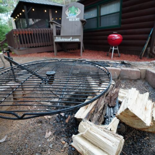 Cook on the fire pit.