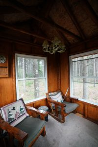 Inside sitting cabin.