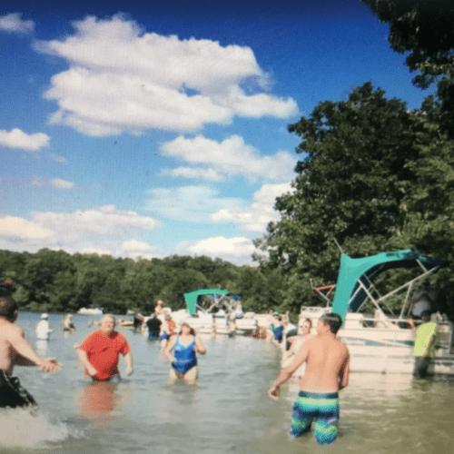 Fun on the lake.
